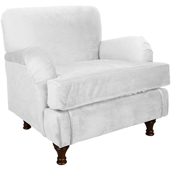 Alternate image 1 for Skyline Furniture Sherman Kids Chair in Velvet White