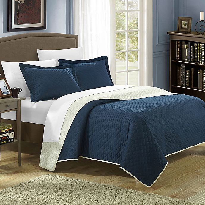 Alternate image 1 for Chic Home Lugano 3-Piece Reversible Quilt Set
