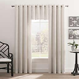 Hyde Park Grommet Top Window Curtain Panel and Valance