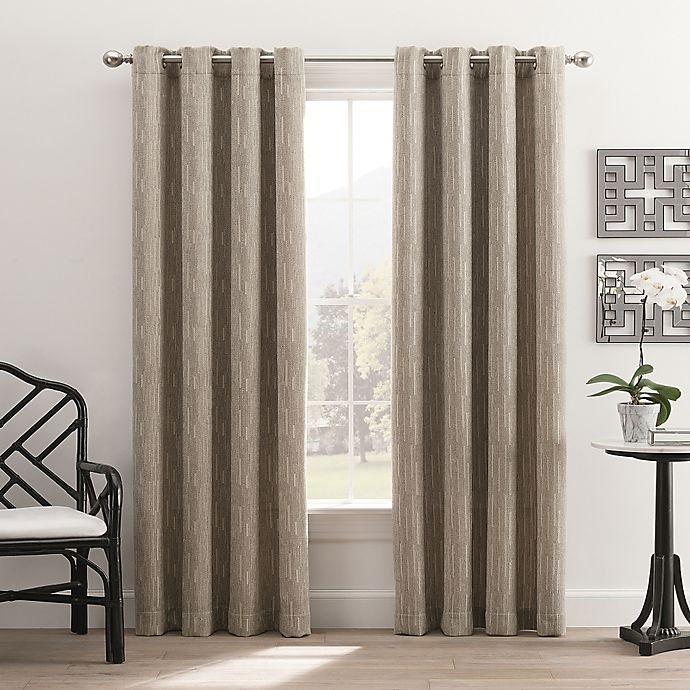 Alternate image 1 for Hyde Park 108-Inch Grommet Top Window Curtain Panel in Silver