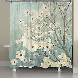 Laural Home® Dogwood Blossoms Shower Curtain