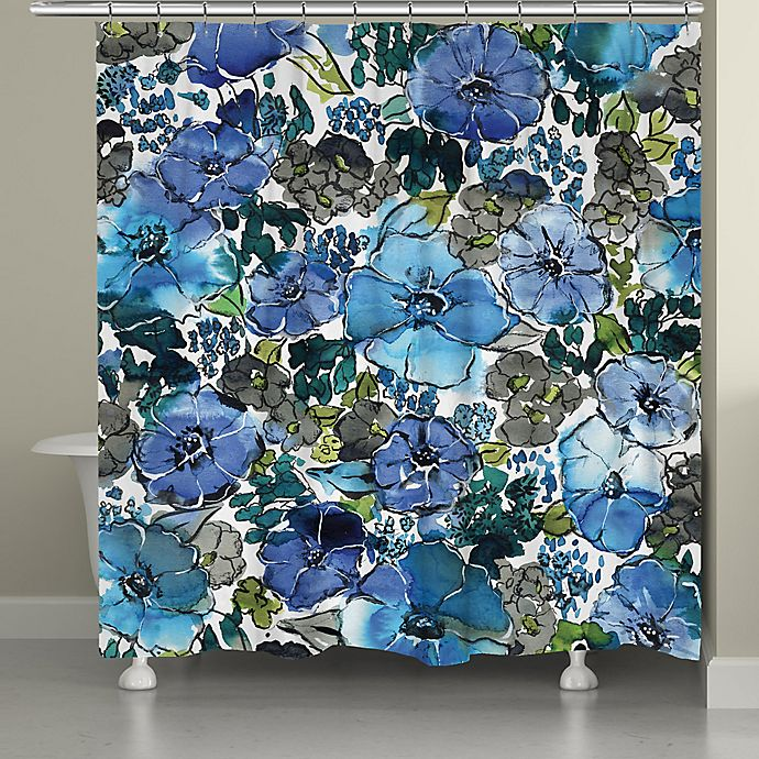 Alternate image 1 for Laural Home® Eclectic Bloom Shower Curtain