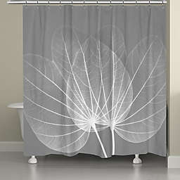 Laural Home® Grey Leaves Shower Curtain
