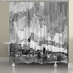 Laural Home® Grey Glacier Shower Curtain