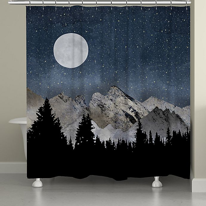 Laural HomeR Midnight Mountain Shower Curtain