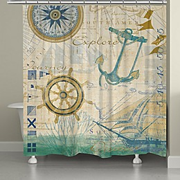 Laural Home® Mariner Sentiment Shower Curtain