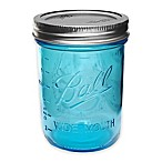 Ball® Collection Elite Wide Mouth Pint Mason Jars in Blue(Set of 4)