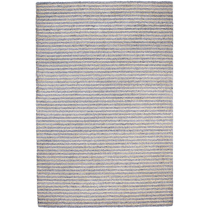 Trans Ocean 3 Foot 6 Inch X 5 Stripes Indoor Outdoor Rug In Grey