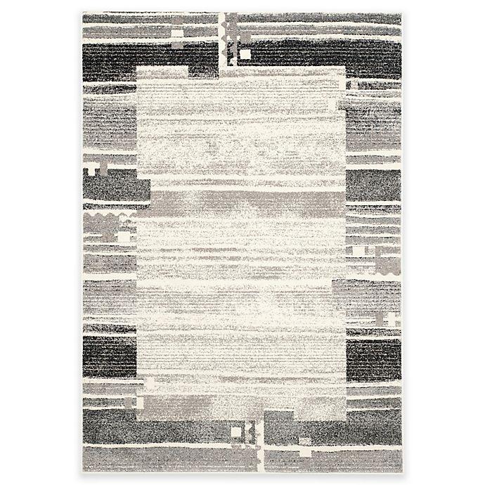 Alternate image 1 for Safavieh Evoke Stripe Area Rug in Ivory/Grey