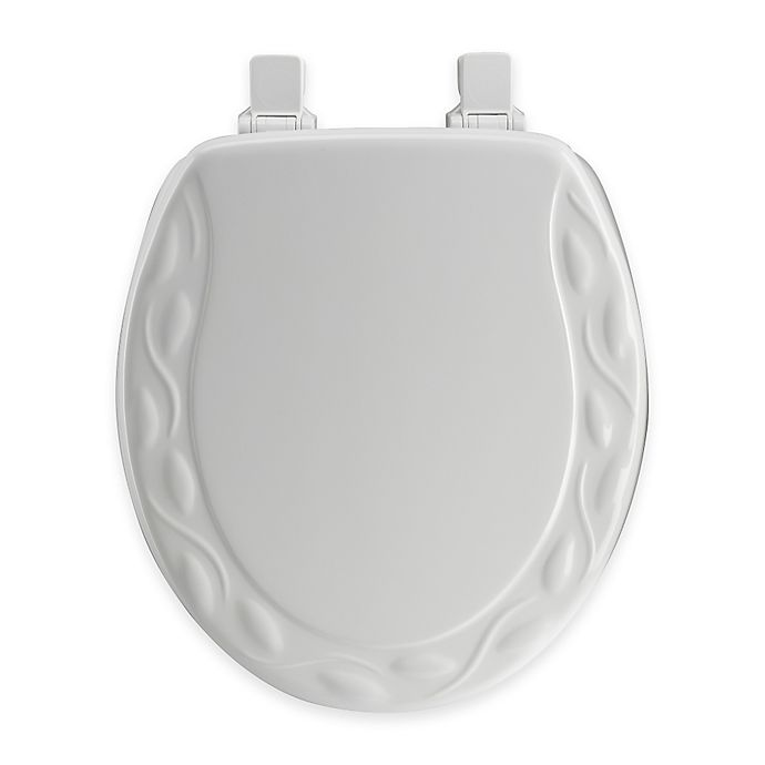 Awesome Mayfair Round Ivy Molded Wood Toilet Seat In White With Easy Pdpeps Interior Chair Design Pdpepsorg
