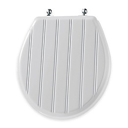 Mayfair Round Molded Wood Toilet Seat in Chrome