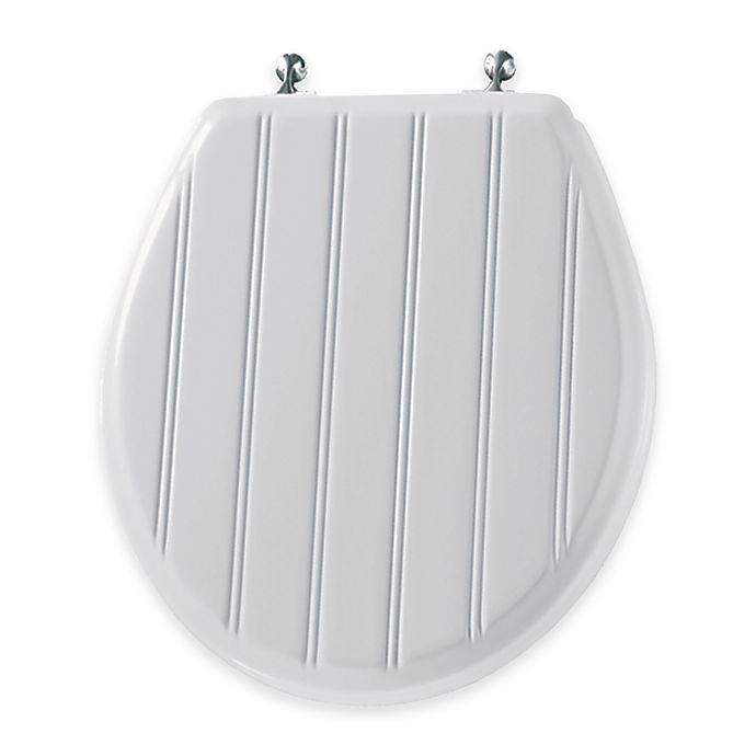 Alternate image 1 for Mayfair Round Molded Wood Toilet Seat in Chrome
