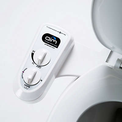 Dual-Nozzle Self-Cleaning Universal Bidet Attachment in White