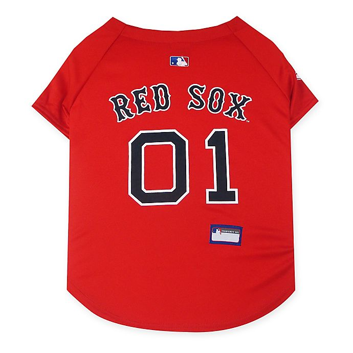 Alternate image 1 for MLB Boston Red Sox X-Small Pet Jersey