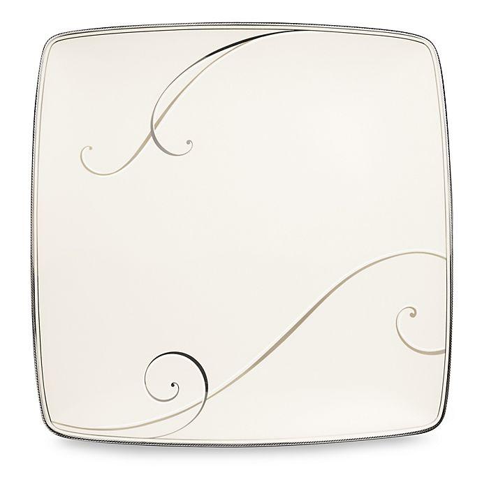 Alternate image 1 for Noritake® Platinum Wave Large Square Accent Plate