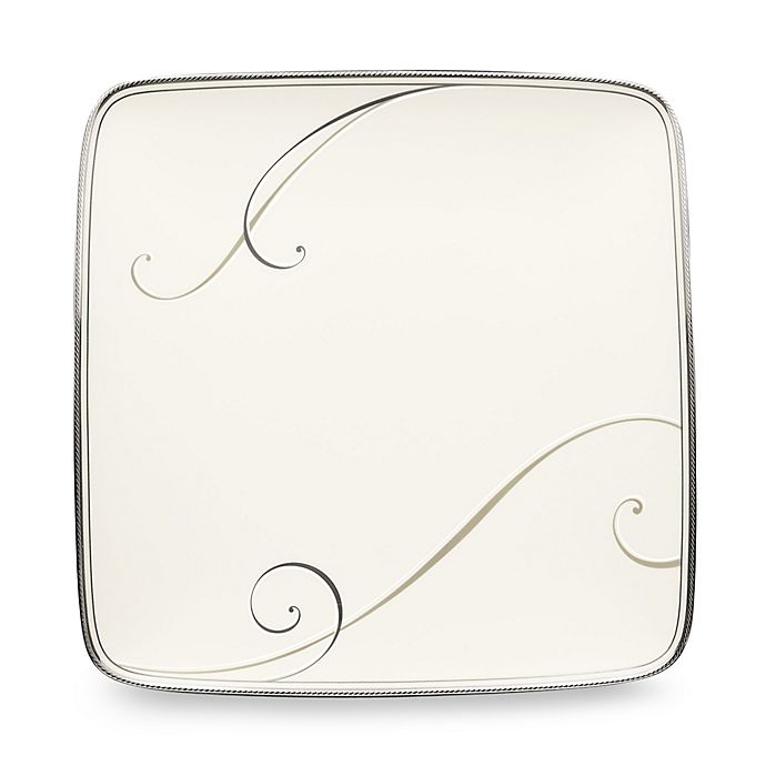 Noritake 174 Platinum Wave Small Square Accent Plate Bed