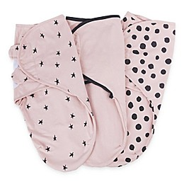 Ely's & Co.® 3-Pack Cotton Knit Swaddle Blankets in Pink