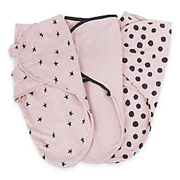 Ely's & Co.® Size 0-3M 3-Pack Cotton Knit Swaddle Blankets in Pink