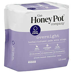 The Honey Pot 12-Count Overnight Pads with Wings