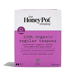 The Honey Pot 18-Count Organic Regular Tampons