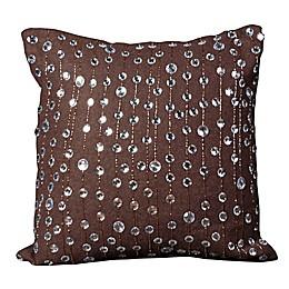 Mina Victory Luminescence Rain Drops Square Throw Pillow