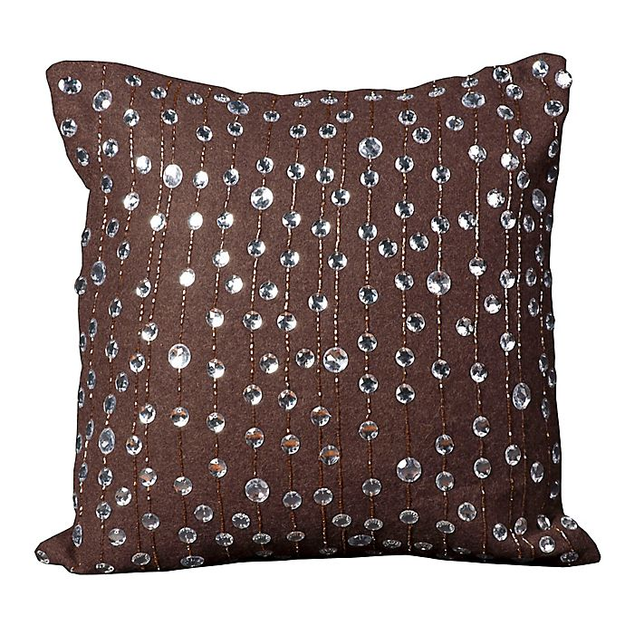Alternate image 1 for Mina Victory Luminescence Rain Drops Square Throw Pillow