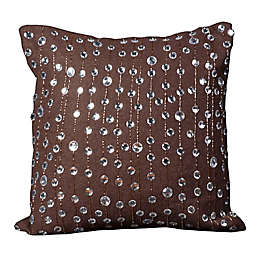 Mina Victory Luminescence Rain Drops Square Throw Pillow