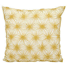 Michael Amini Beaded Sun Stars Square Throw Pillow
