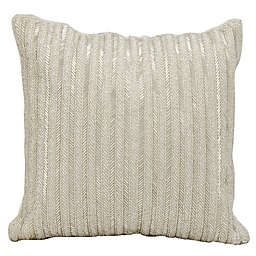 Michael Amini™ Beaded Stripes Square Throw Pillow