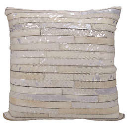 Michael Amini Stripes Square Throw Pillow