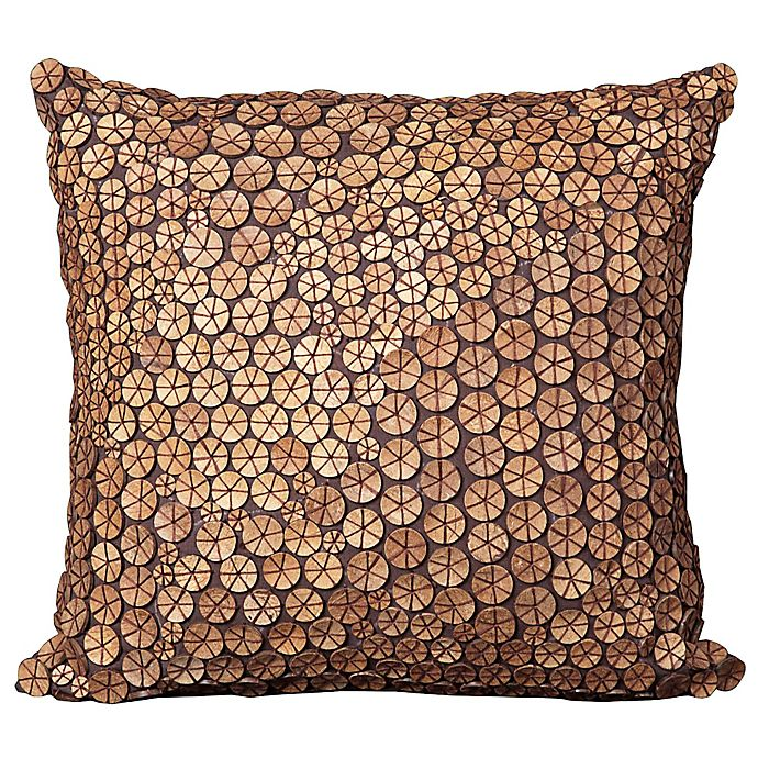 Alternate image 1 for Mina Victory Button Collection Square Throw Pillow Collection