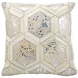 Michael Amini Big Hexagon Square Throw Pillow