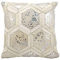 Michael Amini Big Hexagon Square Throw Pillow