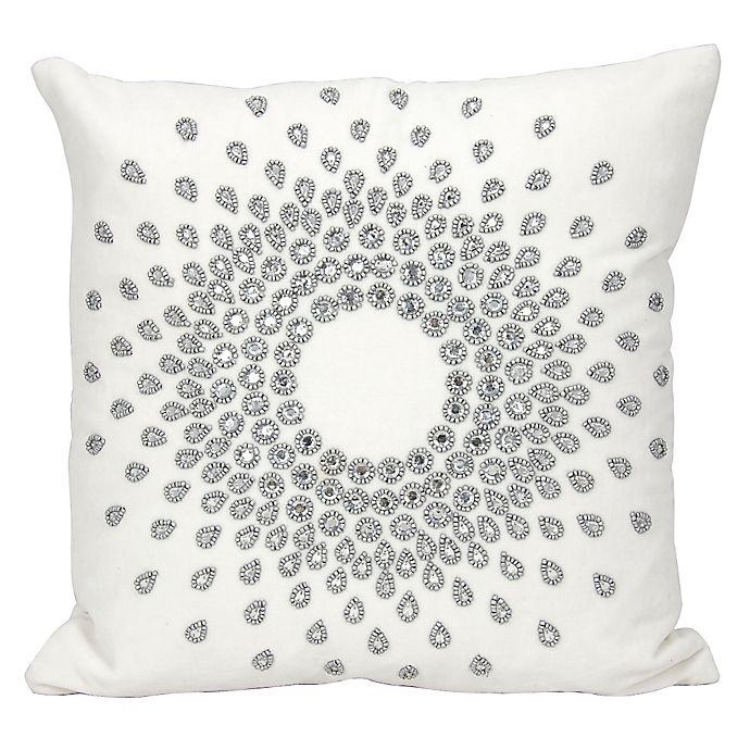 Alternate image 1 for Mina Victory Couture Luster Sun Burst Beauty Square Throw Pillow Collection