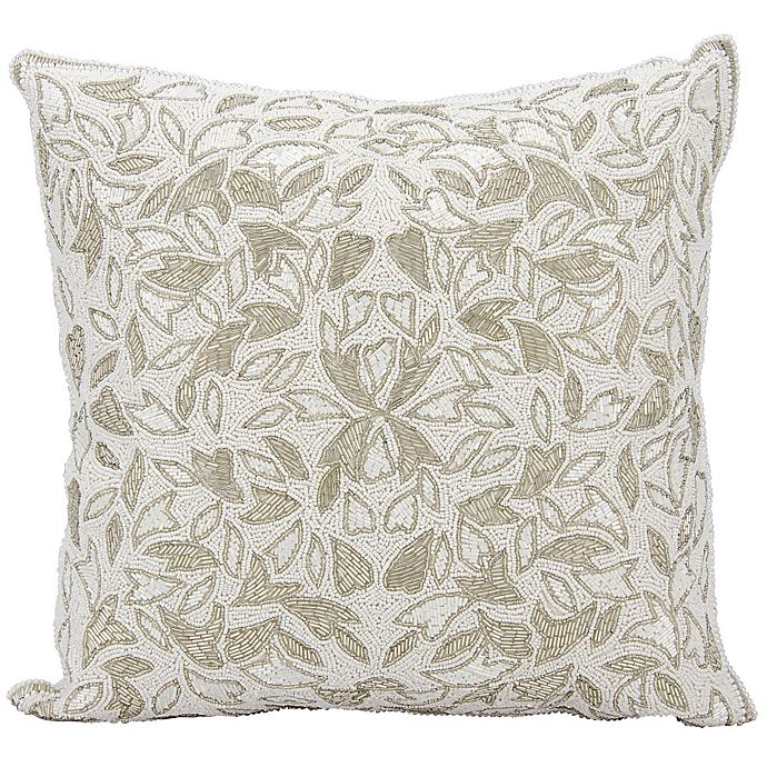 Alternate image 1 for Mina Victory Beaded Vines Throw Pillow