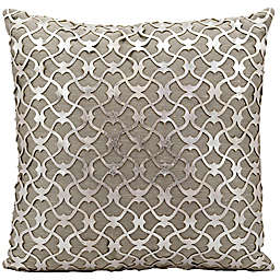 Mina Victory Couture Romantic Laser Cut 20-Inch Square Throw Pillow