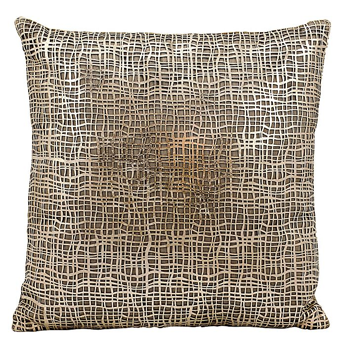 Alternate image 1 for Mina Victory Couture Sitara Laser-Cut Throw Pillow