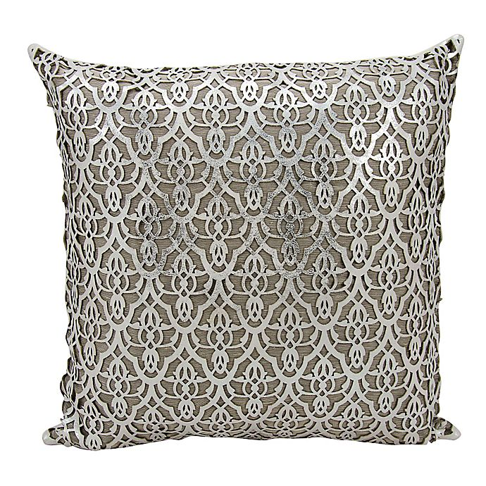 Alternate image 1 for Mina Victory Moorish Leaves Square Throw Pillow
