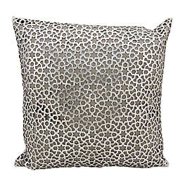 Mini Victory Couture Arabic Geometric Leather Throw 20-Inch Pillow
