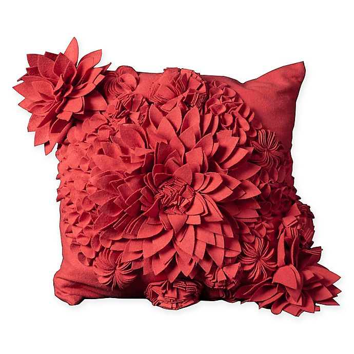 Alternate image 1 for Mina Victory Flower Square Throw Pillow