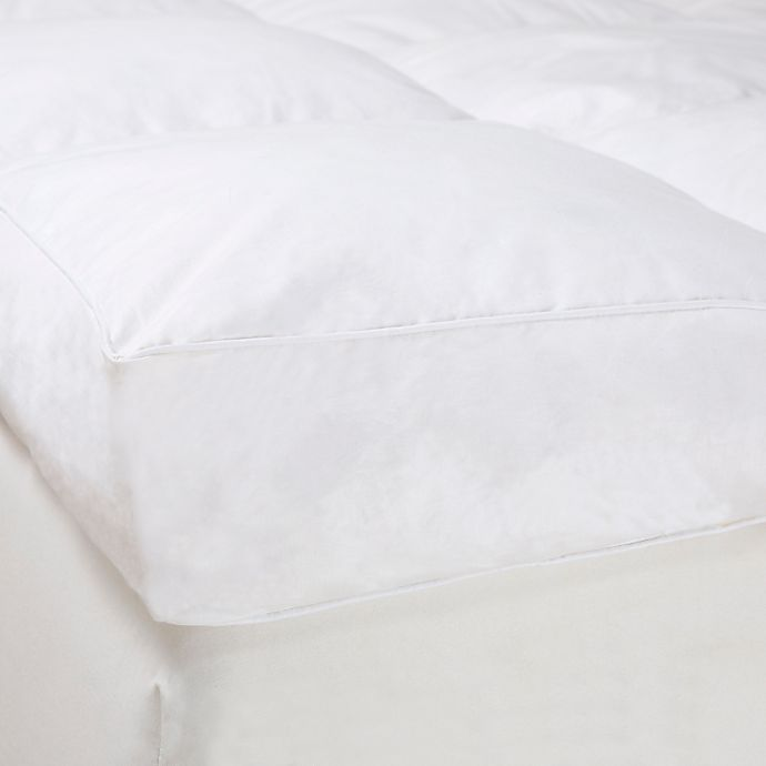 Alternate image 1 for Nottingham Home 4-Inch Gusset Down Featherbed Full Mattress Topper