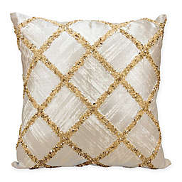 Kathy Ireland by Nourison Diamond Square Throw Pillow