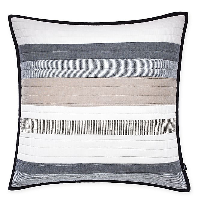 Alternate image 1 for Nautica® Tideway Quilted Square Throw Pillow in Neutral