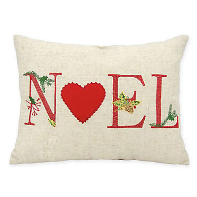 "Mina Victory Home for the Holidays ""Noel"" Oblong Throw Pillow"