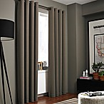 Kenneth Cole Reaction Home Gotham Texture 84-Inch Lined Grommet Window Curtain Panel in Mocha