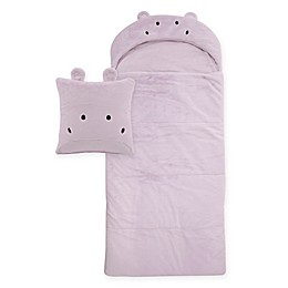 Décor Innovation Youth Faux Fur Hippo Hood Sleeping Bag in Lavender