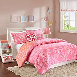 INK+IVY Kids Julia Reversible Comforter Set in Pink