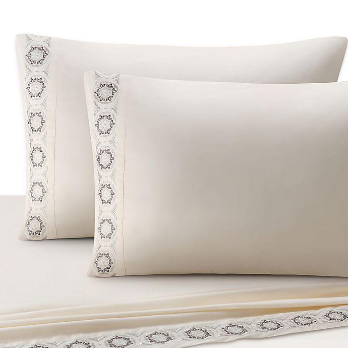 Alternate image 1 for J. Queen New York™ Colette Sheet Set in Ivory