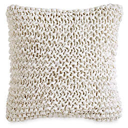 DKNY City Pleat Ribbon Square Throw Pillow in White
