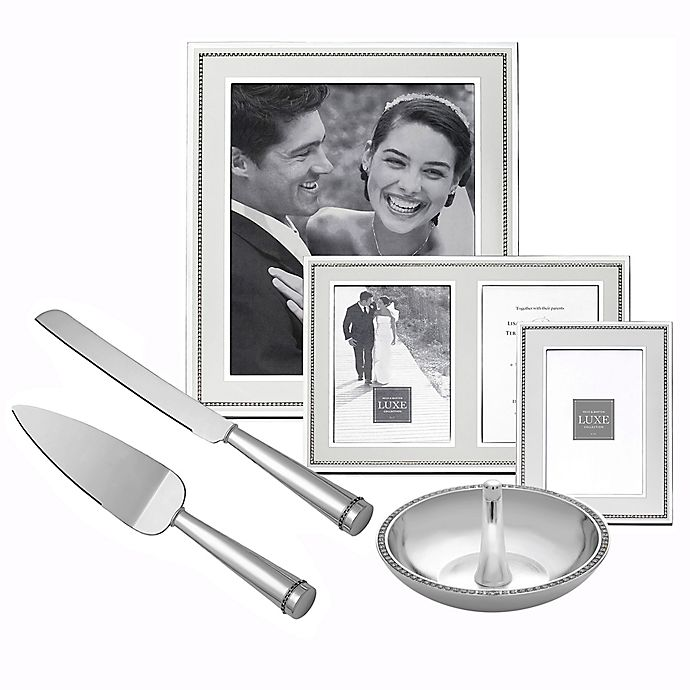 Alternate image 1 for Reed & Barton Luxe Collection Facets Fine Giftware in White/Silver